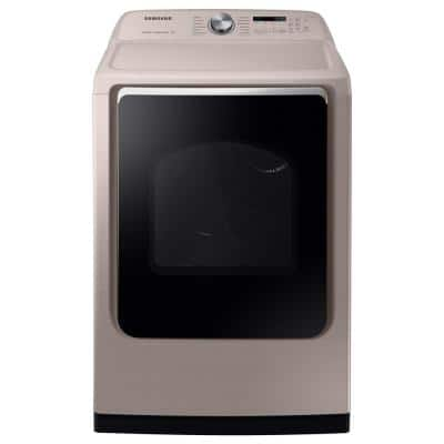7.4 cu. ft. Champagne Electric Dryer with Steam Sanitize+, ENERGY STAR
