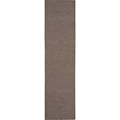 Positano Natural 2 ft. x 8 ft. Solid Modern Indoor/Outdoor Runner Rug