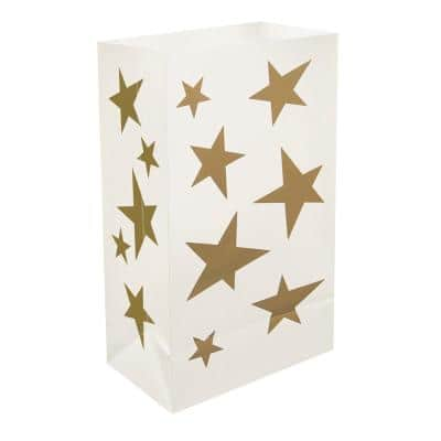 Plastic Stars Luminaria Bags (12-Count)