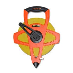 328 ft. Fiberglass Tape Measure with 2-Sided Metric