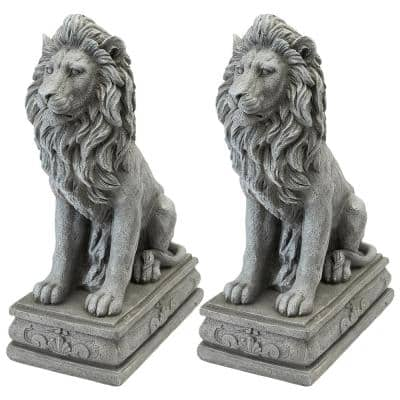 Fouquet Royal Palace Sentinel Lion Statue Set (2-Piece)