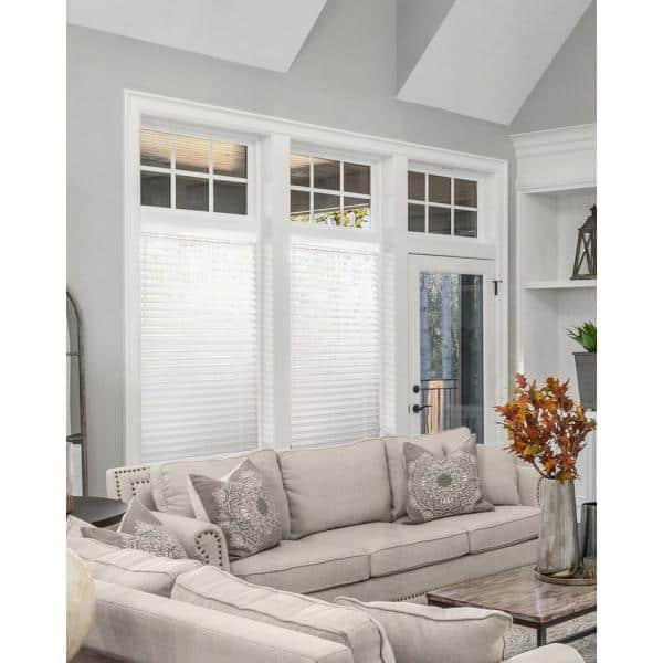 Chicology Basic Collection Pre Cut White Cordless Room Darkening Fauxwood Blind With 2 In Slats 84 In W X 84 In L Cfw Bw 8484 The Home Depot