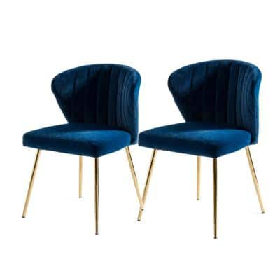 Milia Navy Tufted Dining Chair (Set of 2)