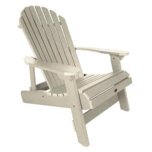 King Hamilton Whitewash Folding and Reclining Recycled Plastic Adirondack Chair