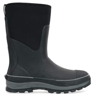 Men's Frontier Mid Neoprene Rubber Boot - Black Size 13