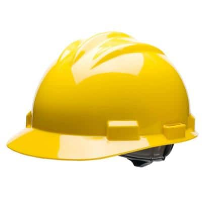 Yellow 4-Point Pinlock Suspension Cap Style Hard Hat