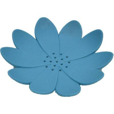 Bath Soap Dish Cup Water Lily Solid Blue