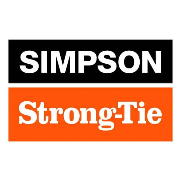 Simpson Strong Tie SDWH191000DB-RC12 0.195 x 10 Stong-Drive Structural Wood Screws with Large Hex-Washer Head 12 per Package