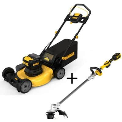 21.5 in. 20-Volt Max Li-Ion Cordless Battery Walk Behind Push Mower w/20V Cordless Brushless String Trimmer (Tool Only)