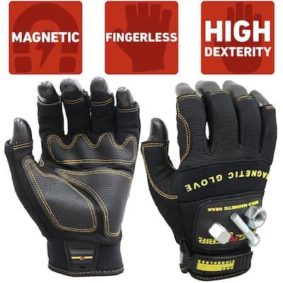 Pro Fingerless Large Magnetic Glove