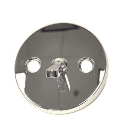 Overflow Plate with Trip Lever in Chrome for Price Pfister Faucets