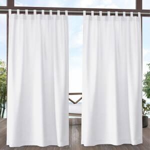 White Tab Top Room Darkening Curtain - 54 in. W x 108 in. L (Set of 2)