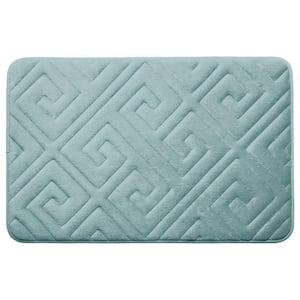 Caicos Aqua 20 in. x 32 in. Memory Foam Bath Mat