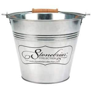 Scented 50 Hour Long Burning Citronella Candle with Galvanized Metal Bucket