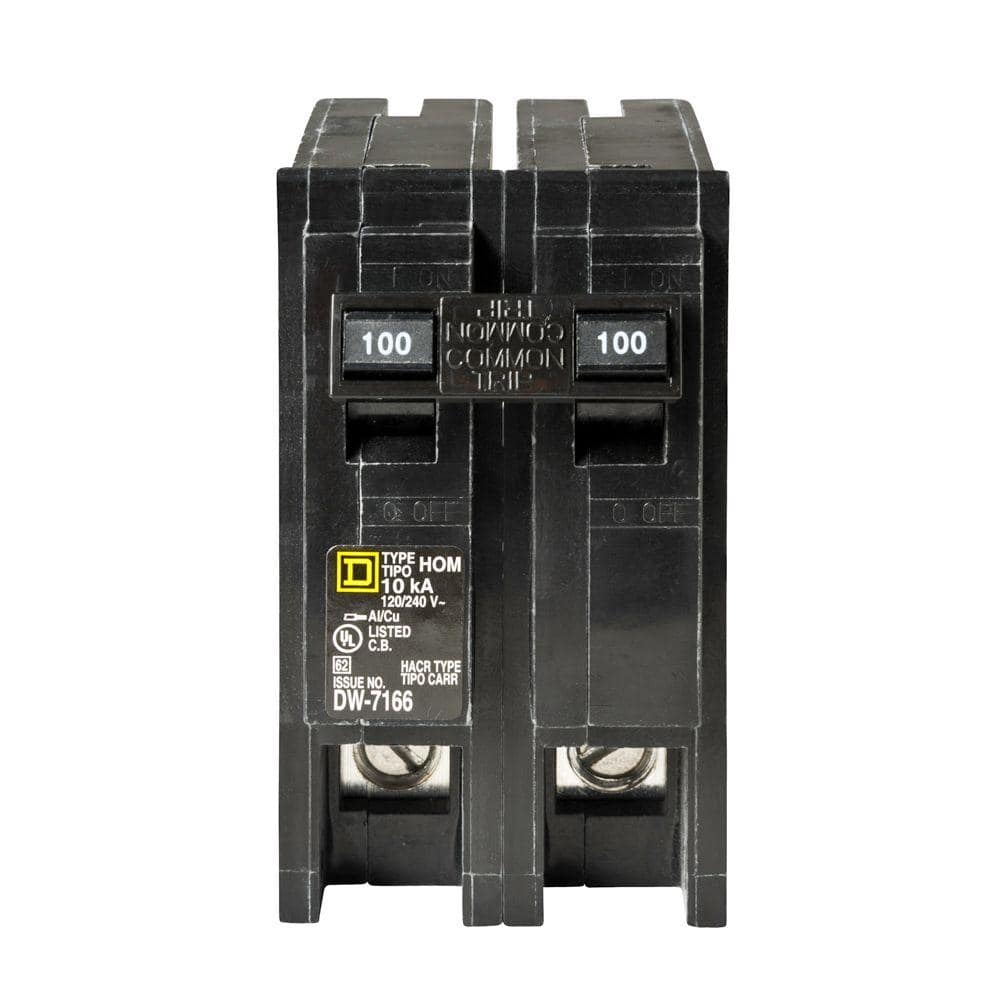 2P POLE MAIN CIRCUIT BREAKER//MH2100 U 240V VOLT CH//Square D 100A AMP ML2100