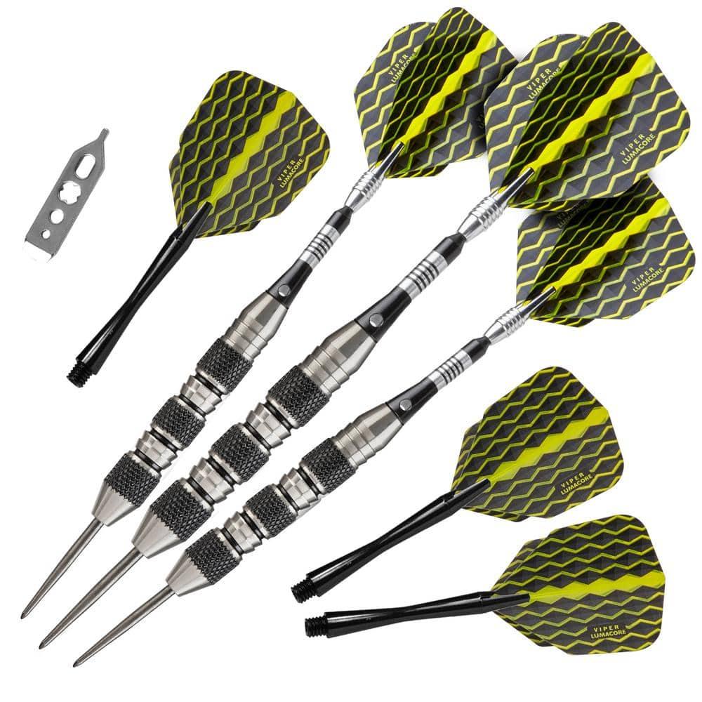 Needle-point Darts Aluminum Shaft And Black Coated Metal Barrel PET Scraper 22g