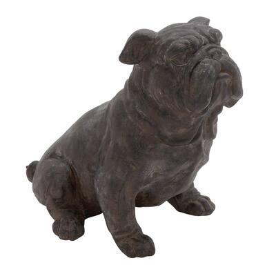 Black Resin Traditional Dog Sculpture