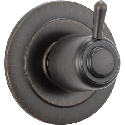 1-Handle 6-Setting Diverter Valve Trim Kit in Venetian Bronze (Valve Not Included)