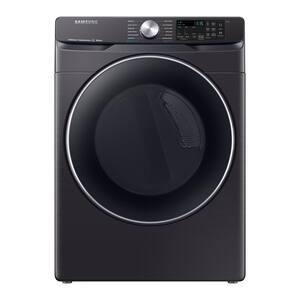 7.5 cu. ft. Fingerprint Resistant Black Stainless Gas Dryer with Steam Sanitize+