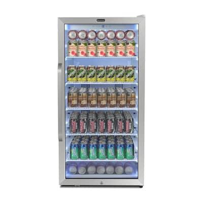24 in. 8.1 cu.ft. Freestanding Beverage Merchandiser Refrigerator with Superlit Door in White