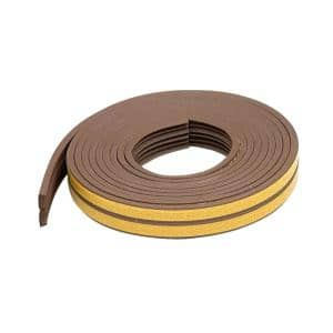 E/O Premium 3/8 in. x 17 ft. Brown Weatherstrip for Extra Small Gaps (10-Year)