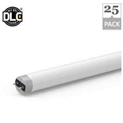 15-Watt 2200 Lumens 4 ft. Linear Plug and Play T8 LED Tube Light Bulb in 5000K (25-Pack)