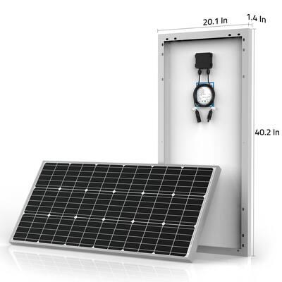 800-Watt Black Monocrystalline Off-Grid Solar Power Kit with 8 x 100-Watt Solar Panel, 60 Amp MPPT Charge Controller