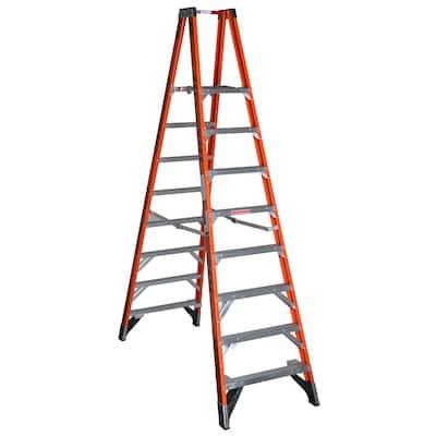 14 ft. Reach Fiberglass Platform Twin Step Ladder with 300 lb. Load Capacity Type IA Duty Rating