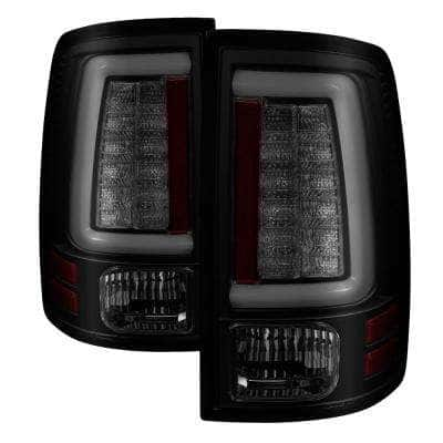 Dodge Ram 1500 13-18 / Ram 2500/3500 13-18 LED Tail Lights -( Not Compatible With Incandescent Model ) - Black Smoke