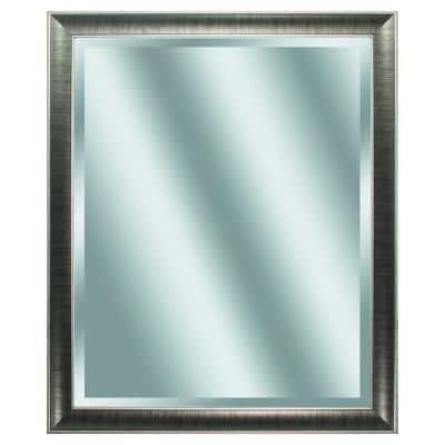 Victoria 34 in. x 28 in. Classic Rectangle Framed Gray Vanity Mirror