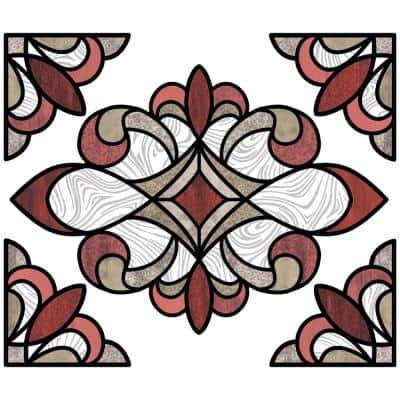 Red Westwood Stained Glass Decal (Set of 2)