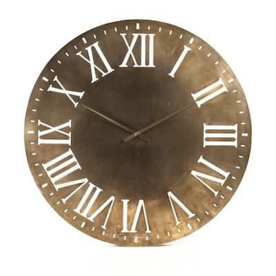 Distressed Gold Cutout Roman Numeral Laure Clock