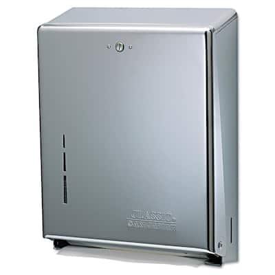 11-3/8 in. x 4 in. x 14-3/4 in. Chrome C-Fold/Multifold Towel Dispenser