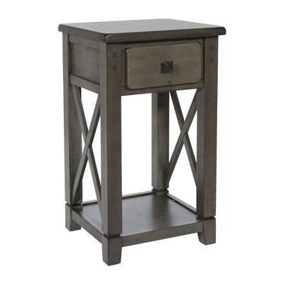 Hillsboro Grey Wash Side Table