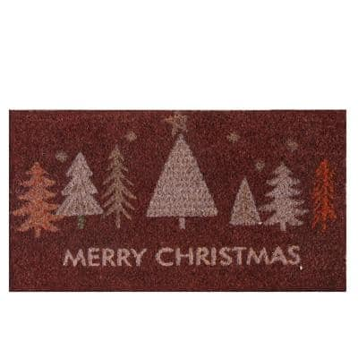 """Merry Christmas """"Oh, Christmas Tree!"""" 18 in. x 30 in. Coir Door Mat"""
