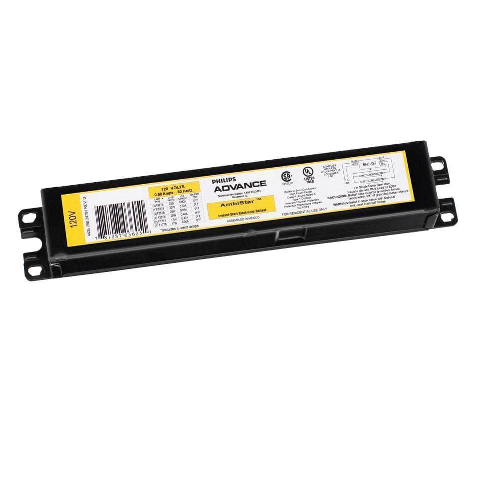 Philips Emergency Fluorescent Ballast Fbp90 T-8 T10 T12 120//277 Vac 60hz