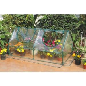 47 in. L x 23-5/8 in. W x 23-5/8 in. H Garden Cold Frame Greenhouse Cloche for Easy Access Protected Gardening