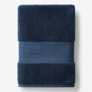 Legends Regal Midnight Blue Solid Egyptian Cotton Bath Sheet