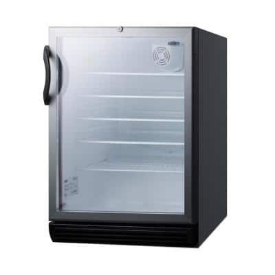 24 in. 5.5 cu. ft. Commercial Refrigerator in Black, ADA Height