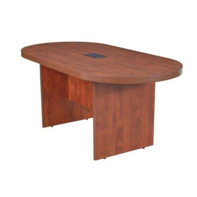71 in. Magons Cherry Racetrack Conference Table with Power Data Grommet