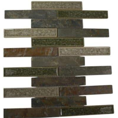 Roman Selection Emperial Slate 12 in. x 12 in. x 8 mm Glass Mosaic Floor and Wall Tile