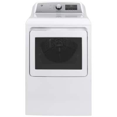 7.4 cu. ft. Smart 120-Volt White Gas Dryer with Steam and Sanitize Cycle, ENERGY STAR