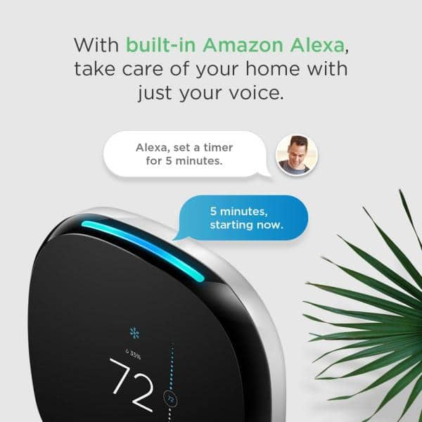Details about  /Ecobee4 Alexa Enabled Smart Thermostat ***Empty Box with Inserts /& Manual Only**