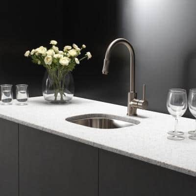 Single-Handle Pull-Down Kitchen Faucet in Satin Nickel