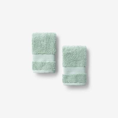 Legends Regal Spearmint Solid Egyptian Cotton Wash Cloth (Set of 2)