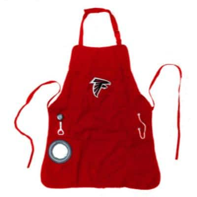 Atlanta Falcons NFL 24 in. x 31 in. Cotton Canvas 5-Pocket Grilling Apron with Bottle Holder
