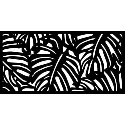 0.3 in. x 45.7 in. x 1.9 ft. Monstera Wall Art& Fence Panel