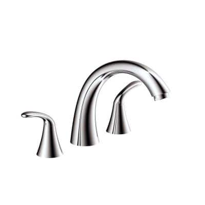 Marble Series 2-Handle Deck-Mount Roman Tub Faucet in Polished Chrome