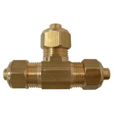3/8 in. OD Compression Brass Tee Fitting