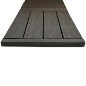 1/6 ft. x 1 ft. Quick Deck Composite Deck Tile Straight Trim in Argentinian Silver Gray (4-Pieces/Box)